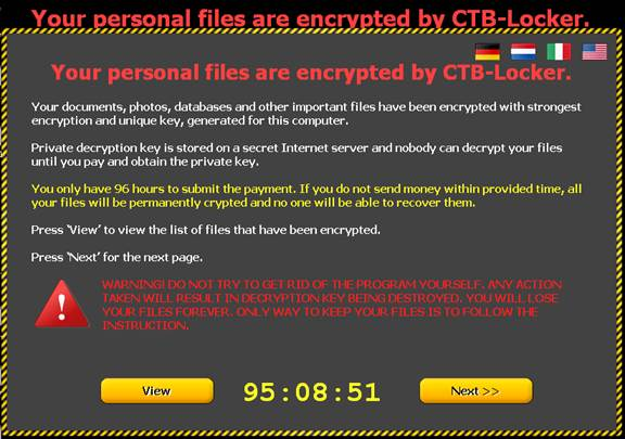 CTB-Locker, ransomware