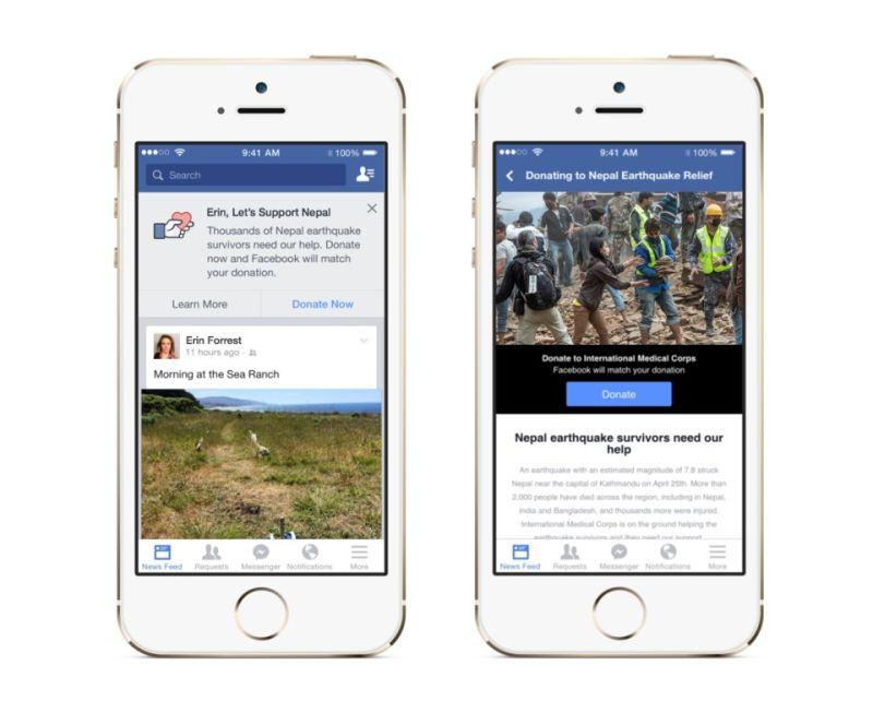 Facebook Nepal donate