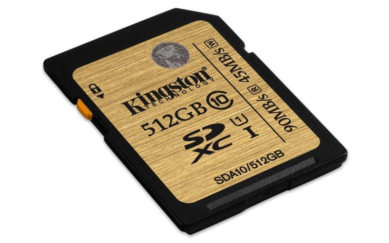 Kingston presenta la tarjeta de 512GB de la familia SDHCSDXC UHSI Clase 10