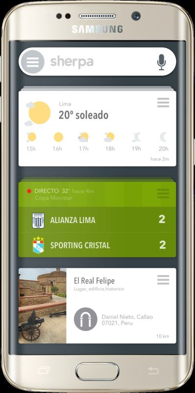 Sherpa, asistente personal apra Android