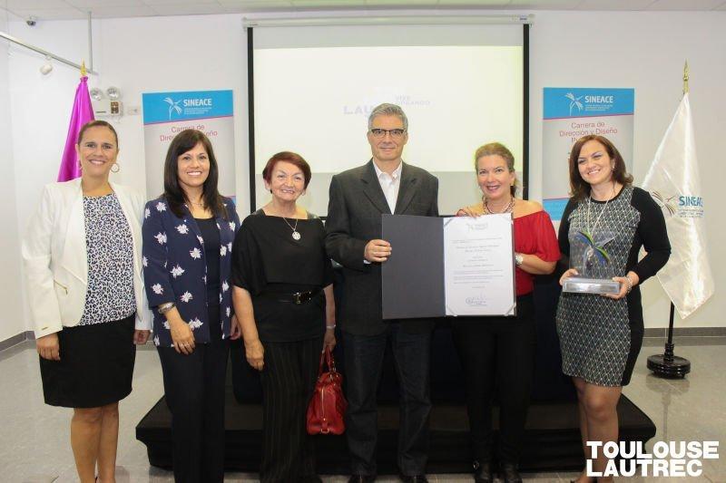 Toulouse Lautrec recibió distinción del SINEACE para la carrera profesional de Dirección y Diseño publicitario