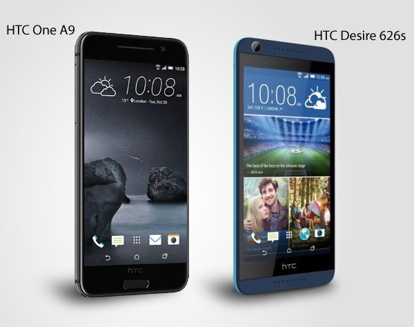 HTC Desire 626s_BlueLagoon y HTC One A9
