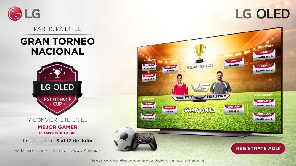 LG OLED Experience Cup el torneo que busca al mejor jugador de E-sports de fútbol del Perú